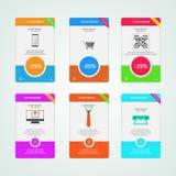Banderas coloreadas para el e-márketing Foto de archivo libre de regalías