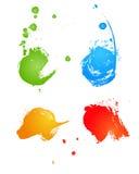 Banderas coloreadas sucias Imagen de archivo libre de regalías