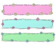 Banderas coloridas stock de ilustración