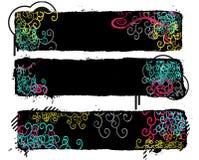 Banderas coloridas ilustración del vector