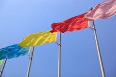 Banderas coloridas Imagen de archivo