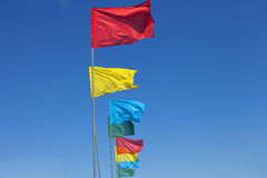 Banderas coloridas Fotografía de archivo libre de regalías