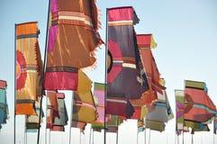 Banderas coloridas Fotografía de archivo