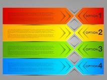 Banderas coloridas abstractas, etiquetas, etiquetas Fotografía de archivo