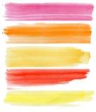 Banderas coloridas de la acuarela Imágenes de archivo libres de regalías
