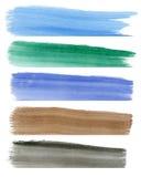 Banderas coloridas de la acuarela Fotografía de archivo