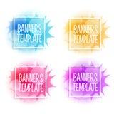 Banderas coloridas del vector Imágenes de archivo libres de regalías