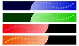 Banderas coloridas del vector Fotos de archivo