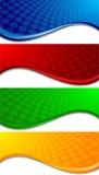 Banderas coloridas del vector Imagenes de archivo