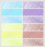Banderas coloridas del vector stock de ilustración