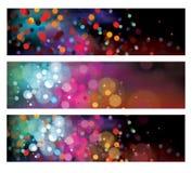 Banderas coloridas del vector Imagen de archivo libre de regalías