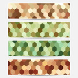 Banderas coloridas del vector Foto de archivo libre de regalías