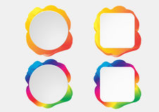 Banderas coloridas infographic de papel fijadas Imágenes de archivo libres de regalías
