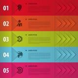 Banderas coloridas Infographics para sus presentaciones del negocio libre illustration