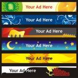 Banderas completamente editable del Web del vector con diverso l ilustración del vector
