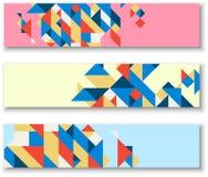 Banderas con el modelo geométrico colorido abstracto libre illustration