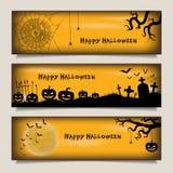 Banderas con feliz Halloween Foto de archivo libre de regalías