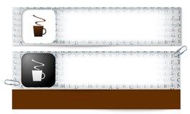 Banderas con la textura de las letras y de la taza de co libre illustration