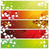 Banderas con la vid ilustración del vector
