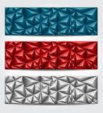 Banderas con poligonal multicolor Foto de archivo