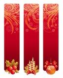 Banderas con símbolo de la Navidad stock de ilustración