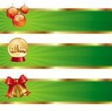 Banderas con símbolos de la Navidad libre illustration
