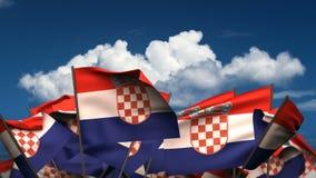 Banderas croatas que agitan libre illustration