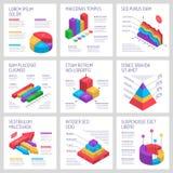 Banderas cuadradas de Infographic fijadas stock de ilustración