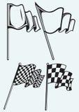 Banderas a cuadros Fotografía de archivo