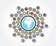 Banderas de África Fotografía de archivo libre de regalías