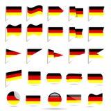 Banderas de Alemania Foto de archivo