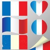 Banderas de Bélgica fijadas. Foto de archivo libre de regalías