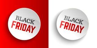 Banderas de Black Friday Ilustración del vector Fotos de archivo libres de regalías