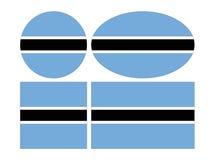 Banderas de Botswana - República de Botsuana