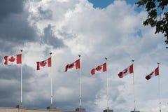 Banderas de Canadá Imagen de archivo libre de regalías