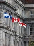 3 banderas de Canadá Fotografía de archivo libre de regalías
