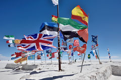 Banderas de diversas naciones, Bolivia Imagen de archivo libre de regalías