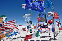 Banderas de diversas naciones, Bolivia Imagenes de archivo