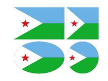 Banderas de Djibouti - la República de Yibuti