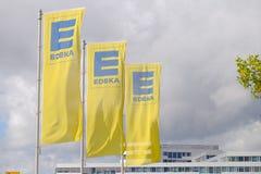 Banderas de Edeka Imagenes de archivo
