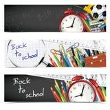 Banderas de escuela Imagen de archivo libre de regalías