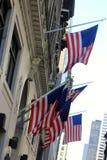 Banderas de Estados Unidos en Nueva York fotos de archivo