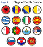 Banderas de Europa del sur Banderas 7 Fotografía de archivo