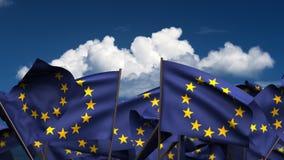 Banderas de Europa que agitan stock de ilustración