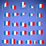 Banderas de Francia Imágenes de archivo libres de regalías