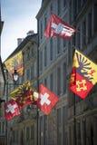 Banderas de Ginebra fotos de archivo libres de regalías