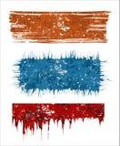 Banderas de Grunge Imagenes de archivo