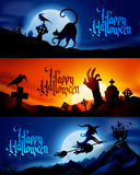 Banderas de Halloween Imágenes de archivo libres de regalías