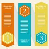 Banderas de Infographics Fotos de archivo
