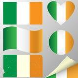 Banderas de Irlanda fijadas Foto de archivo libre de regalías